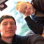 Foto von der MagErfurt 2019: Marvin und Pascal auf der Hinfahrt