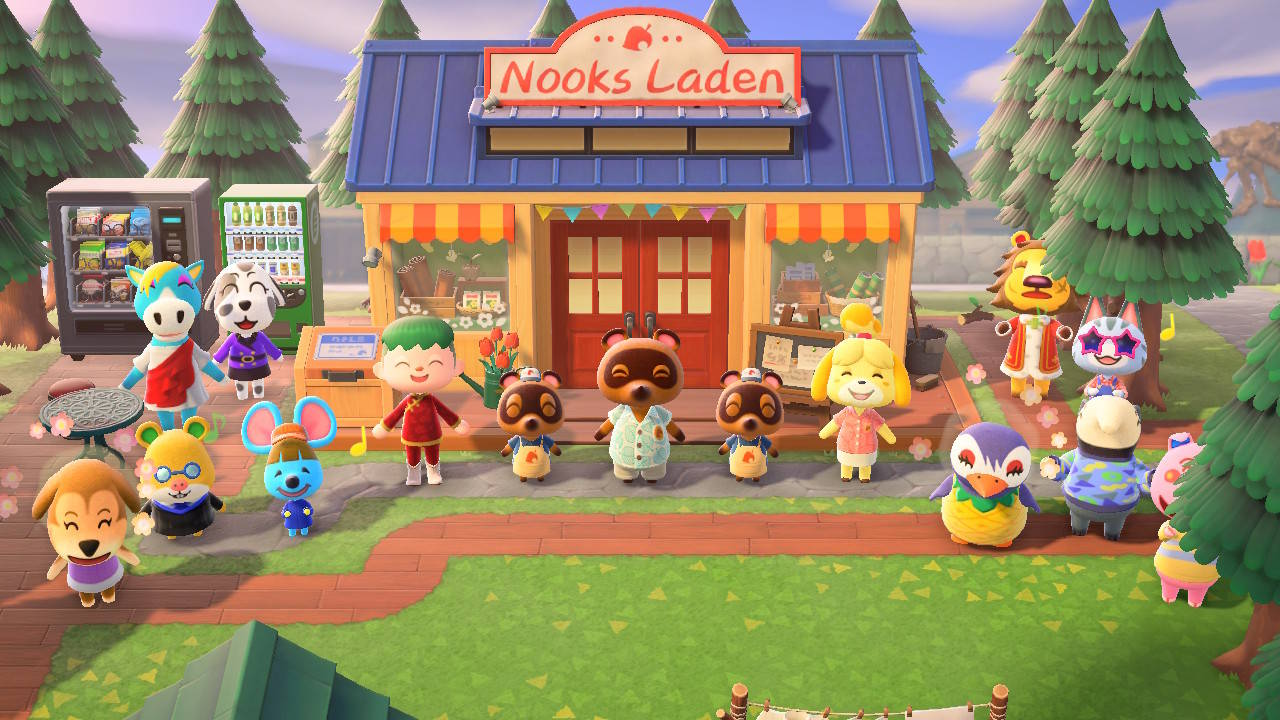 Pascal in Animal Crossing mit den Bewohnern seiner Insel