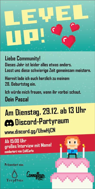 Einladung zu Pascals Geburtstag auf Discord